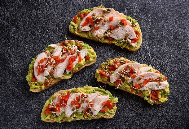 Chicken & Avocado Open Sandwich Recipe